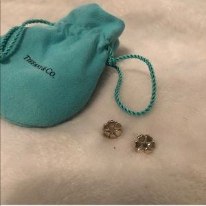 Tiffany and co clover heart earrings